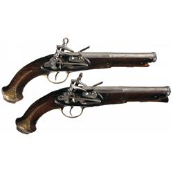 Matched Pair of Miquelet Pistols