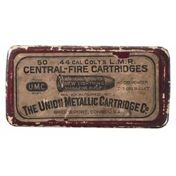 Box of Union Metallic Cartridge Co. 44 Caliber Colt Cartridges for Colt Lightning Rifles