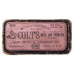 Box of Union Metallic Cartridge Co. 44 Caliber Colt Cartridges