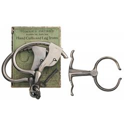 Boxed Vintage Handcuffs and Police Nipper
