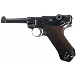 Excellent DWM Model 1914 Military Luger Semi-Automatic Pistol with Low Serial Number