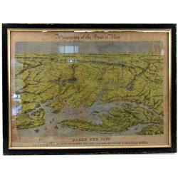 CIVIL WAR ERA BIRDS EYE VIEW MAP-VIRGINIA DELAWARE