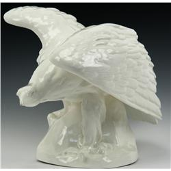 CZECH WHITE GLAZED POTTERY LUFTWAFFE EAGLE