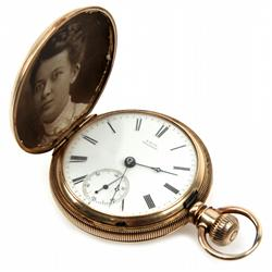 14K WATCH OF J F ALLEN CIVIL WAR SHIP CAPTAIN