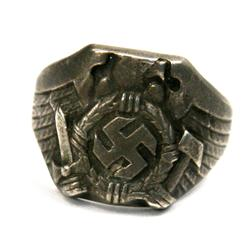 WWII THIRD REICH SILVER HITLER YOUTH LEADER RING