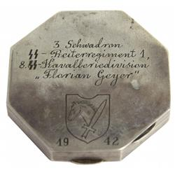 COMPACT PRESENTED BY NAMED GERMAN SS CALVARY WWII