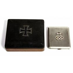 OLYMPIC CIGARETTE CASE & WWI GERMAN KEEP SAKE BOX