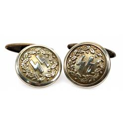 WWII THIRD REICH SS PARTY MEMBER CUFF LINKS