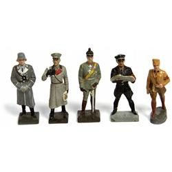 WW2 LINEOL NAZI LEADER & GENERAL TOY SOLDIER LOT