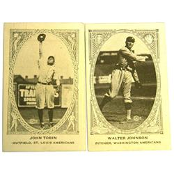 1922 AMERICAN CARAMEL E120 TOBIN & JOHNSON CARDS