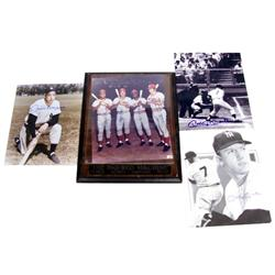 BASEBALL AUTOGRAPH PHOTO LOT MANTLE DIMAGGIO ROSE