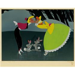 """Once Upon a Winterime"" cel and production background from Melody Time"