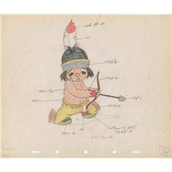 Little Hiawatha original color model drawing