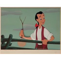 Walt Disney Johnny Appleseed Original Cel and original  background from Melody Time