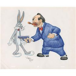 Bugs Bunny and Edward G. Robinson original Virgil Ross drawing
