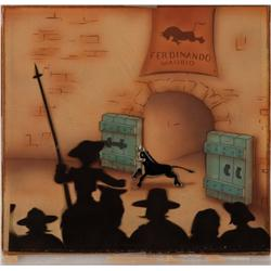 Ferdinand the Bull original production cel on Courvoisier background 1938
