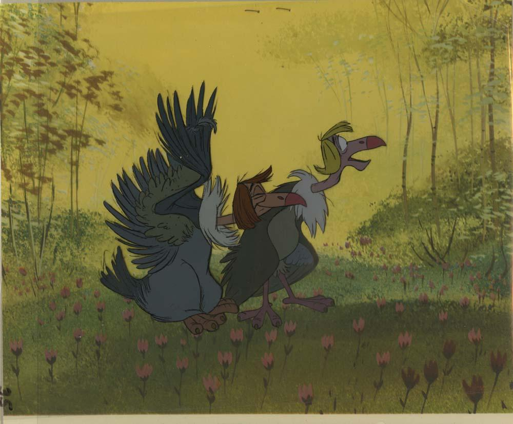 Uncategorized Jungle Book Vultures original production cel of vultures from the jungle book loading zoom