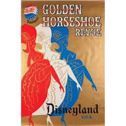 Disneyland Golden Horseshoe Revue attraction poster 1957