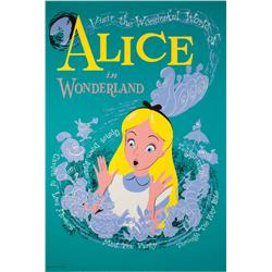 Disneyland Alice in Wonderland attraction poster