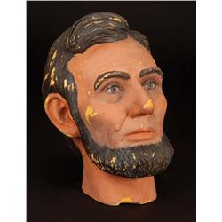 "Lincoln prototype Blaine Gibson bust for Disneyland ""Great Moments w/ Mr. Lincoln"" attraction"