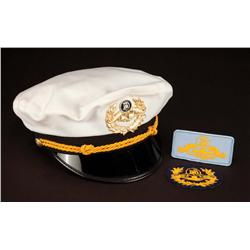 Submarine Voyage skipper's cap and 2 patches