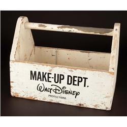 Robert Schiffer's Walt Disney Productions wooden make-up box