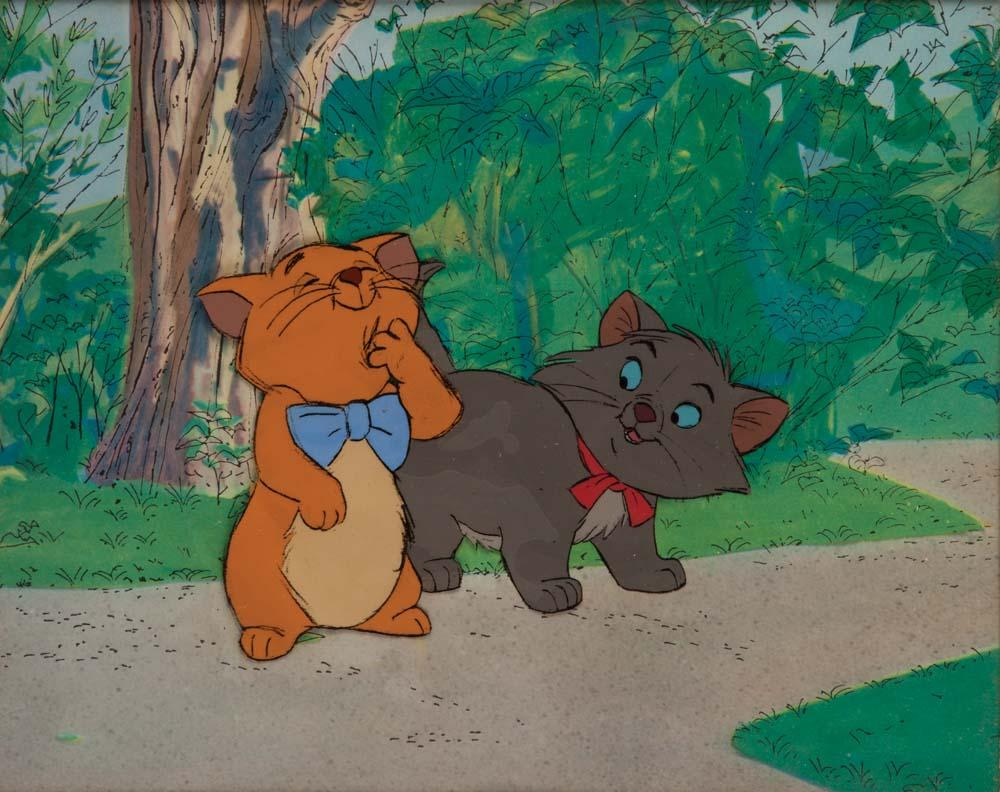 Uncategorized Berlioz Aristocats original production cel of toulouse and berlioz from the aristocats image 1 aristocats