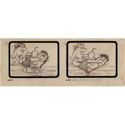 "The Flintstones early storyboard drawings from the episodes ""The Swimming Pool"""