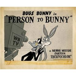 Bugs Bunny original lobby card artwork for Person to Bunny