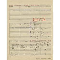 Original 29-pg manuscript score for Woody Woodpecker episode