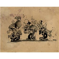 Early Walter Lantz original artwork signed and dated 1921