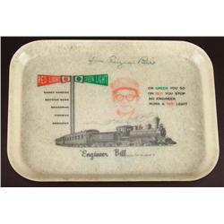 """Engineer Bill"" Stulla signed tray"