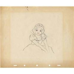 Original production layout drawing of Snow White from Snow White and the Seven Dwarfs