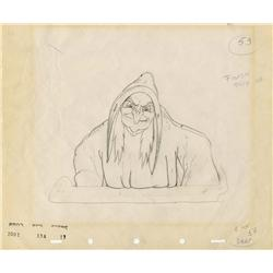 Wicked Witch original production drawing from Snow White and the Seven Dwarfs
