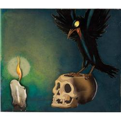 Raven, skull, and candle from Snow White and the Seven Dwarfs