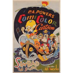 Sinbad the Sailor 1935 one-sheet poster for Ub Iwerks animated-short
