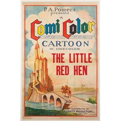 The Little Red Hen 1934 one-sheet poster for Ub Iwerks animated-short