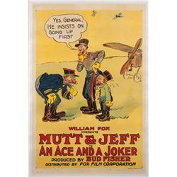 "An Ace and a Joker 1918 one-sheet poster for ""Mutt & Jeff"" animated-short"