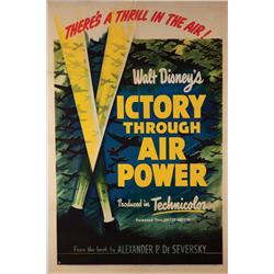 Victory through Air Power orig US one-sheet poster for WWII Disney animation/live-action feature