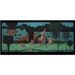Eyvind Earle original concept painting from Sleeping Beauty