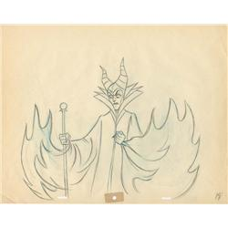 Original production drawing of Maleficent by Marc Davis from Sleeping Beauty