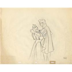 Original production drawings of Sleeping Beauty and Prince Phillip  from Sleeping Beauty