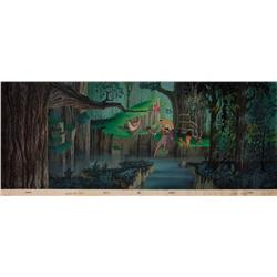 Sleeping Beauty production cel and original large pan background