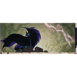 Maleficent production cel with key matching background