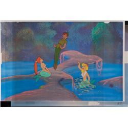 Peter Pan and mermaids original production cels from Peter Pan