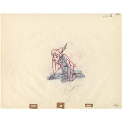 Original production drawing of Peter Pan from Peter Pan