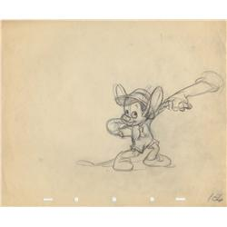 Frank Thomas original production layout drawing from Pinocchio