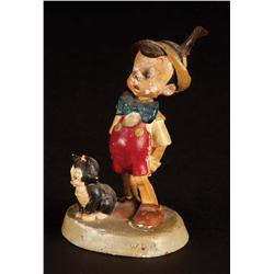 Original Walt Disney Pinocchio with Figaro maquette from Pinocchio