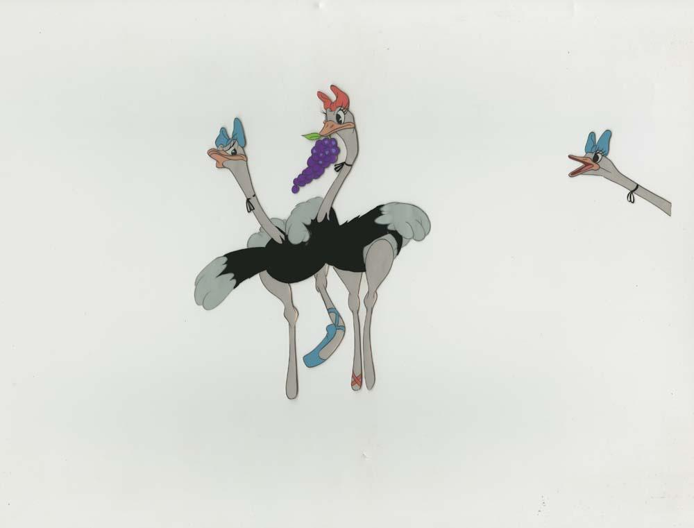 Original Production Cel Of Madame Upanova And Ostriches