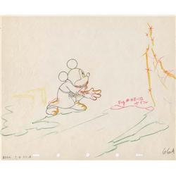 """The Sorcerer's Apprentice"" original production drawing of Mickey from Fantasia"